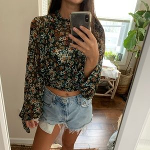 Free People All Dolled Up floral top